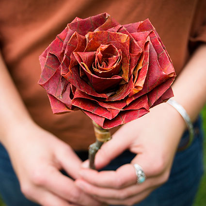 paper rose offering